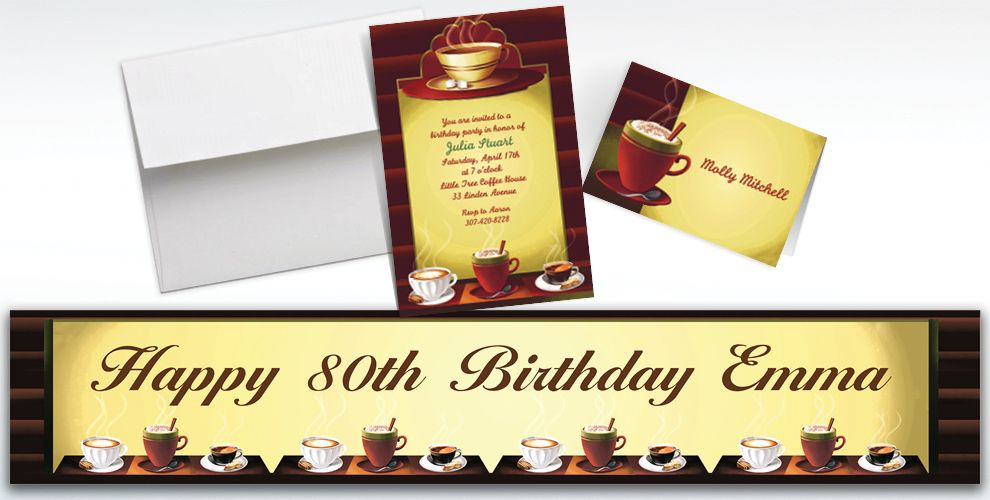 Custom Cafe Classics Invitations and Thank You Notes