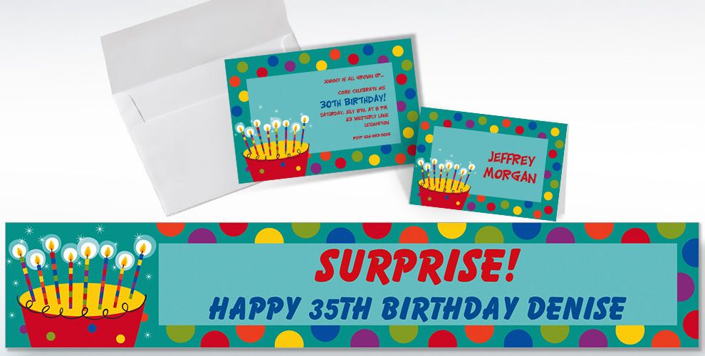 Custom Perfect Time to Party Birthday Invitations and Thank You Notes