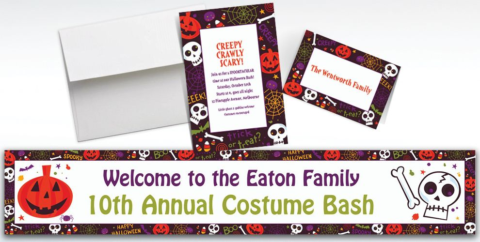 Custom Spooktacular Halloween Invitations and Thank You Notes