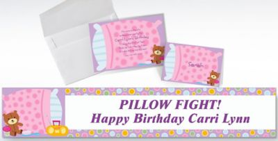 Custom Slumber Party Invitations Thank You Notes Party City