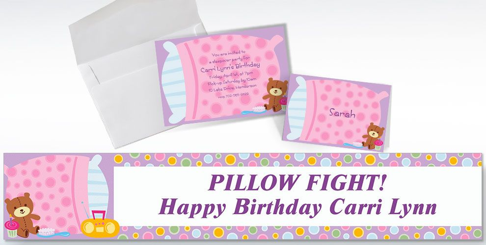 Custom Slumber Party Invitations & Thank You Notes | Party City