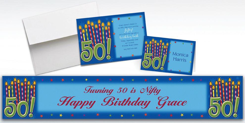 Custom Great Birthday 50th Invitations