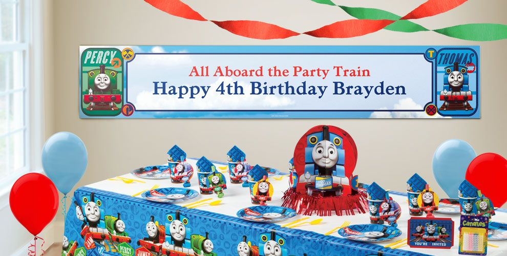 Custom Thomas the Tank Engine Birthday Banners