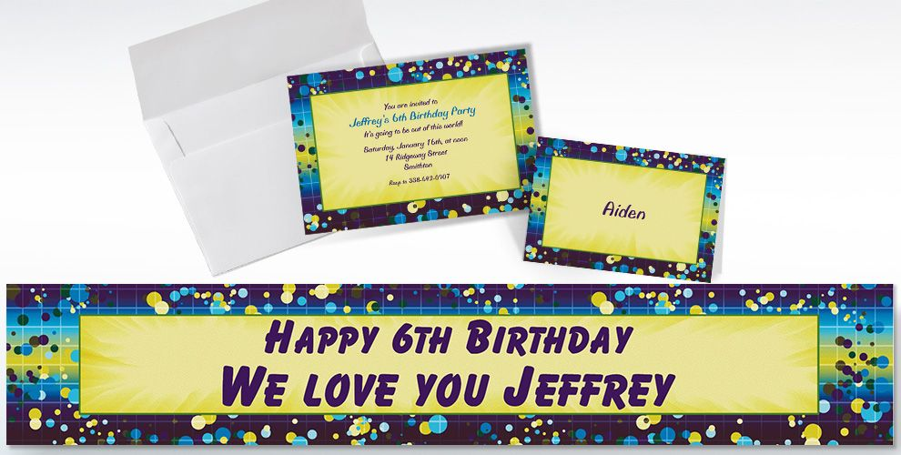 Custom Chromatic Bubbles Invitations and Thank You Notes