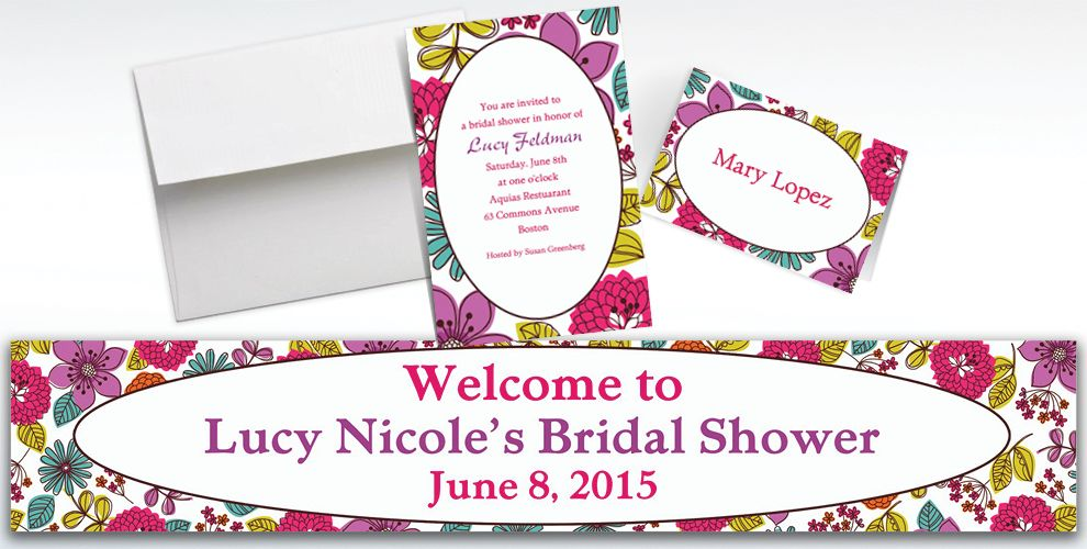 Custom Floral Chic Invitations and Thank You Notes