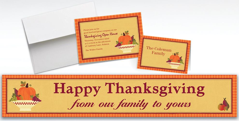 Custom Autumn In The Country Invitations and Thank You Notes