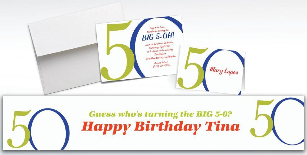 Custom Great Big 50th Invitations