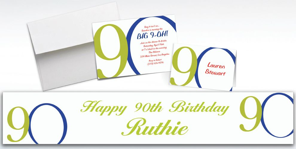 Custom Great Big 90th Invitations