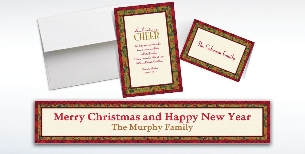 Custom Winter Warmth Invitations and Thank You Notes