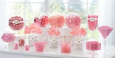 light pink candy buffet supplies light pink candy containers rh partycity com pink candies for candy buffet pink candy for wedding candy buffet