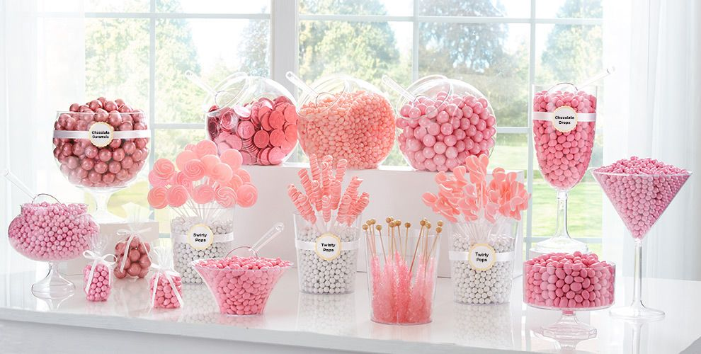 Light Pink Candy Buffet