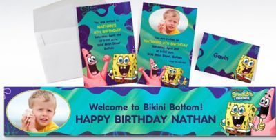 Custom SpongeBob Invitations Thank You Notes Party City