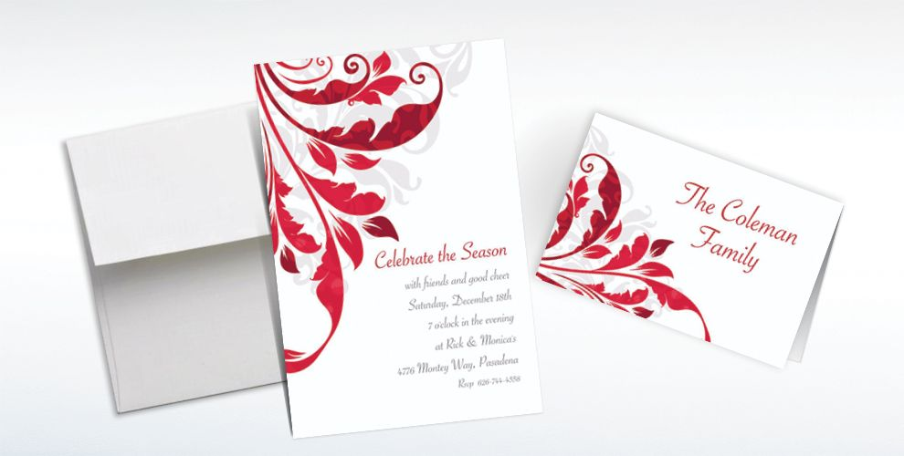 Custom Decorative Scroll Invitations and Thank You Notes