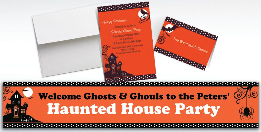 Custom Frightfully Fancy Halloween Invitations and Thank You Notes