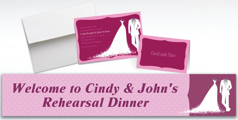 Custom White Bride and Groom Wedding Invitations and Thank You Notes