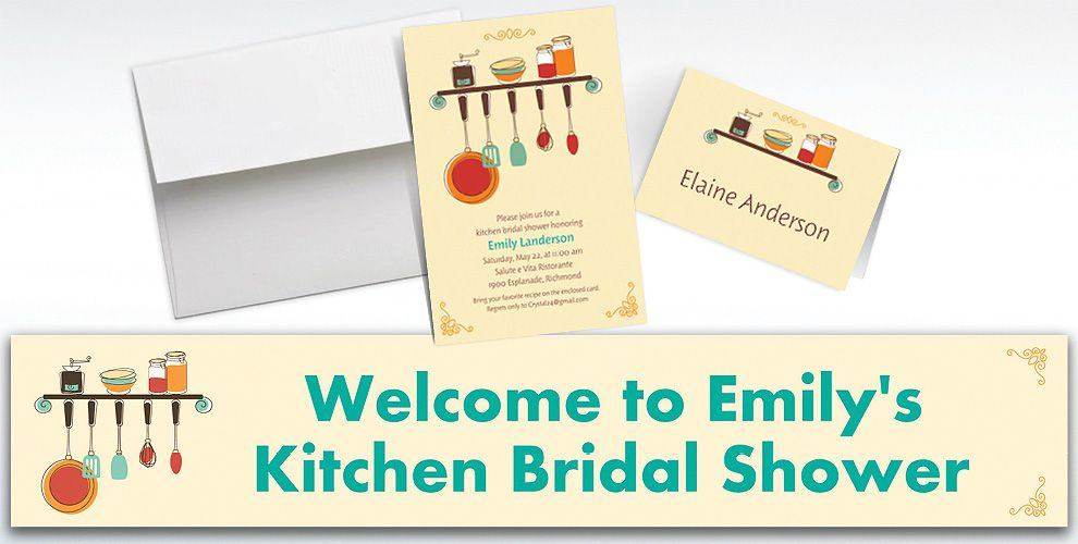 Custom Kitchen Shower Bridal Shower Invitations and Thank You Notes