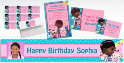 Custom Doc McStuffins Invitations Thank You Notes Party City