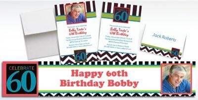 Custom 60th Celebration Photo Invitations Party City