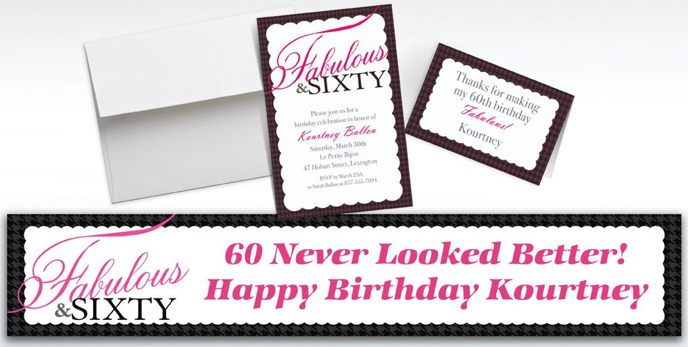 Custom Fabulous and Sixty Invitations