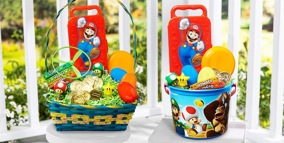 Build Your Own Super Mario Brothers Easter Basket