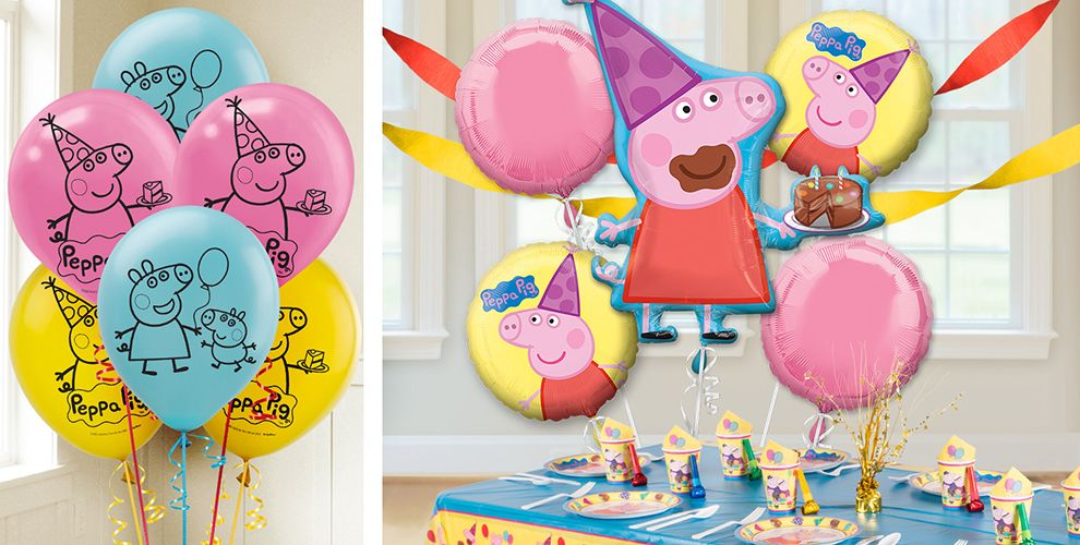 decorations h best about on birthday pig decor party ideas peppa images