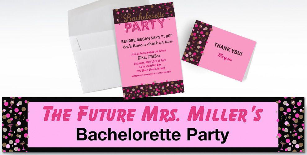 Custom Bachelorette Night Invitations & Thank You Notes