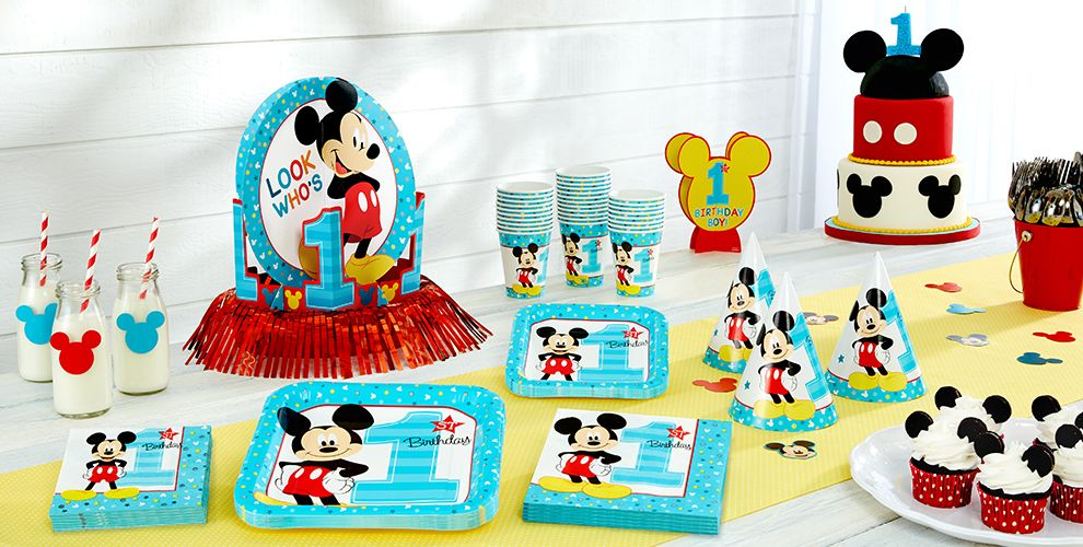 Mickey Mouse 1st Birthday Party Supplies Party City