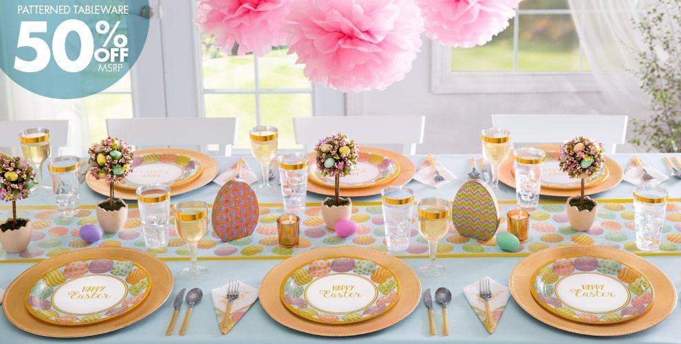 Golden Easter Egg Party Supplies