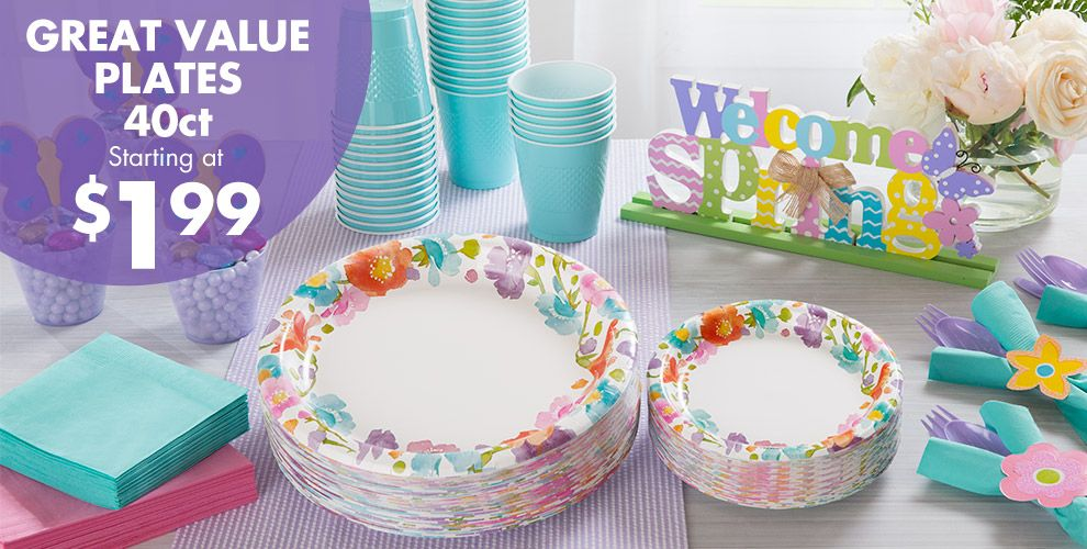 Spring Has Sprung Floral Party Supplies