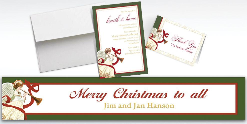 Custom Holiday Spirit Banners, Invitations and Thank You Notes
