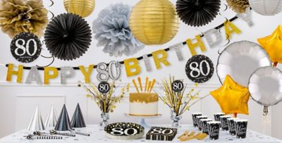 Sparkling Celebration 80th Birthday Party Supplies Party City
