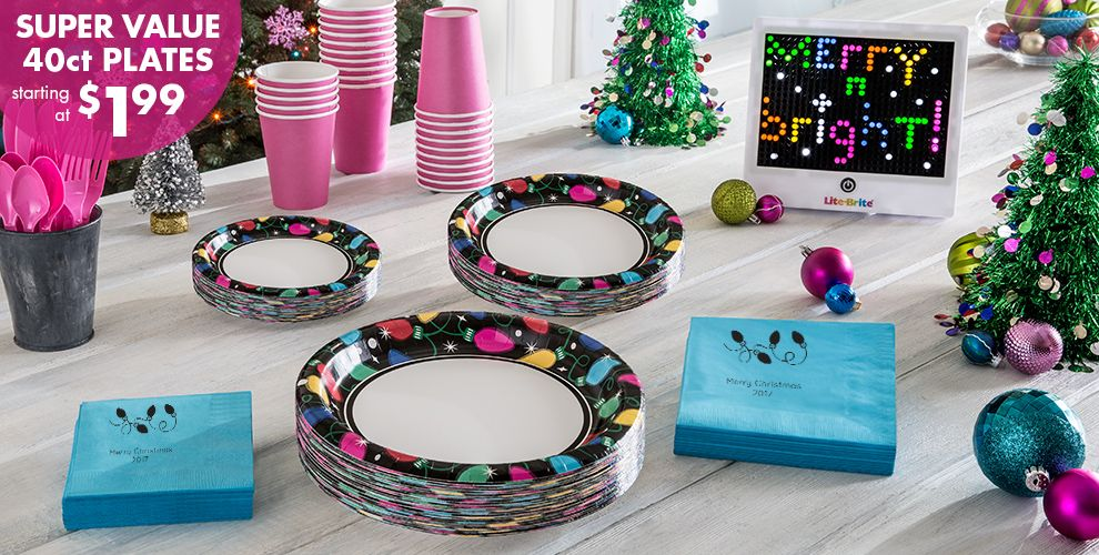 Twinkle Light Christmas Party Supplies