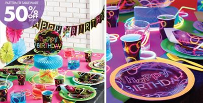 Neon Party Supplies Neon Birthday Party Party City