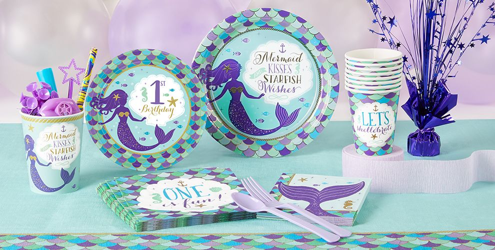 Wishful Mermaid 1st Birthday Party Supplies