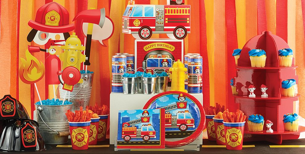 Fire Truck Party Supplies