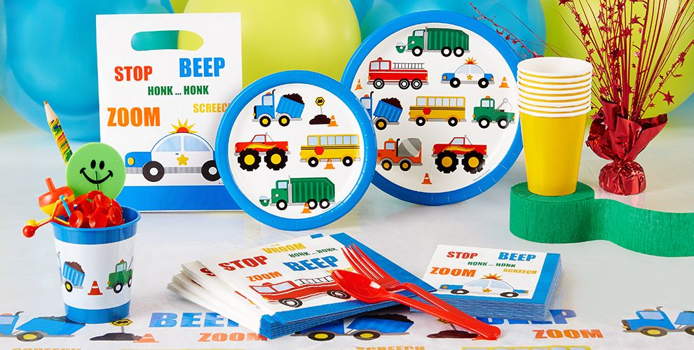 Traffic Jam Tableware Party Supplies