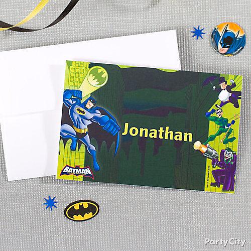 Batman Thank You Note Idea