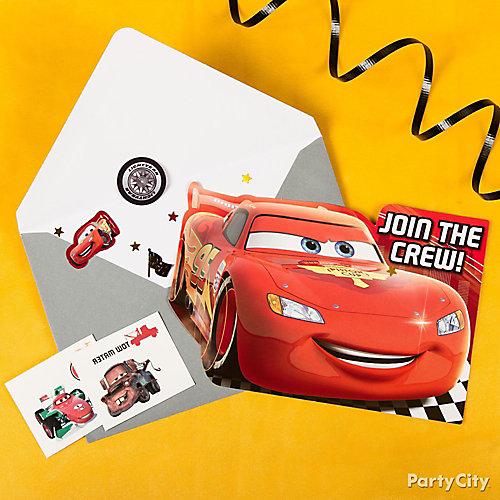 Cars Invite & Thank You Note Idea