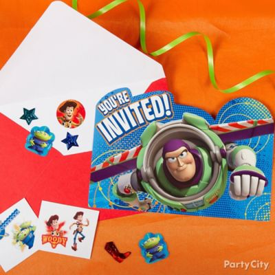 Toy Story Invite with Surprise Idea Invitation Thank You Ideas