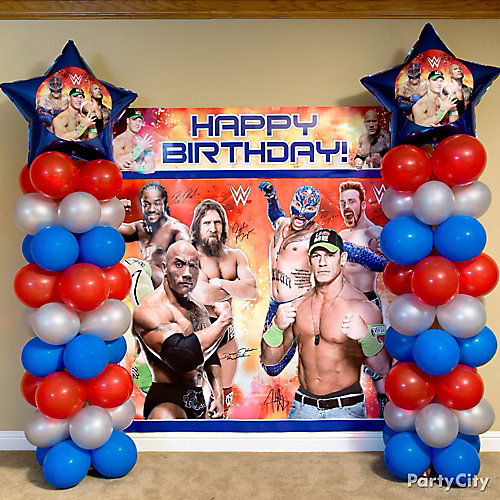 Wwe Balloon Column Diy Decorating Ideas Wwe Party
