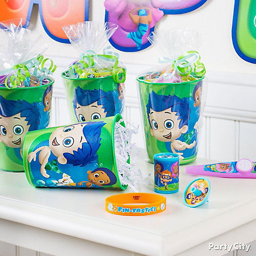 Bubble Guppies Favor Cup Idea