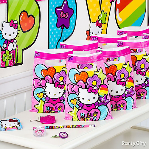 Hello Kitty Favor Pack for 8 Idea