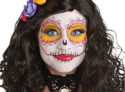 Day Of The Dead Sugar Skull Makeup How