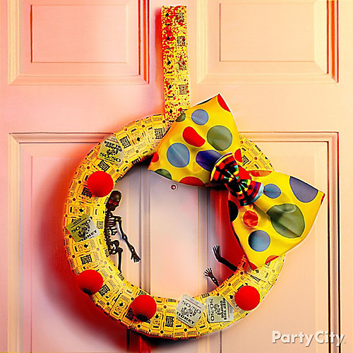 Halloween Bloody Ticket Wreath DIY
