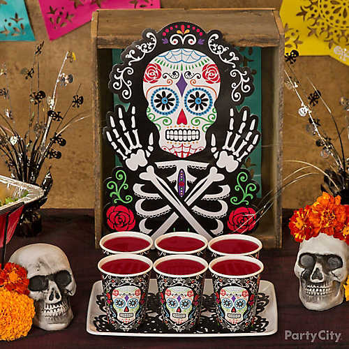 Day of the Dead Drinks Display Idea