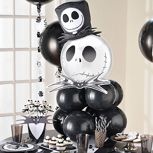 Halloween Jack Skellington Balloon Centerpiece Idea
