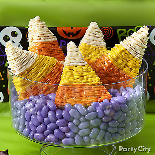 Friendly Candy Corn Crispy Rice Treat How To