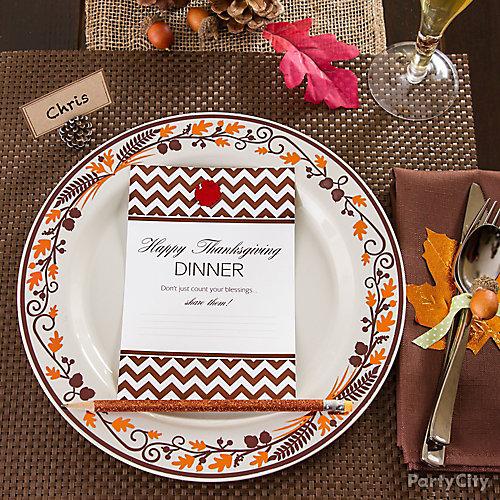 Give Thanks Dinner Card Idea