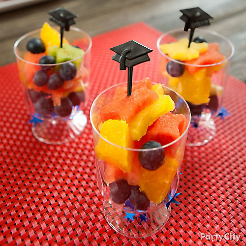 Star Shaped Grad Pick Fruit Cups Idea
