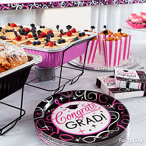 Pink Mini Pancake Skewers Grad Buffet Idea